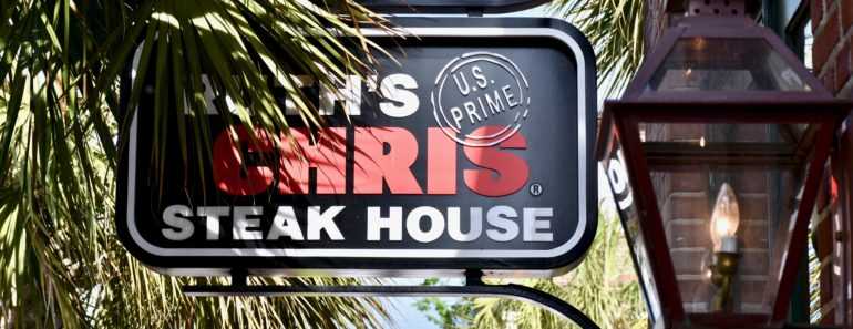Ruth Chris steak house in Charleston South Carolina