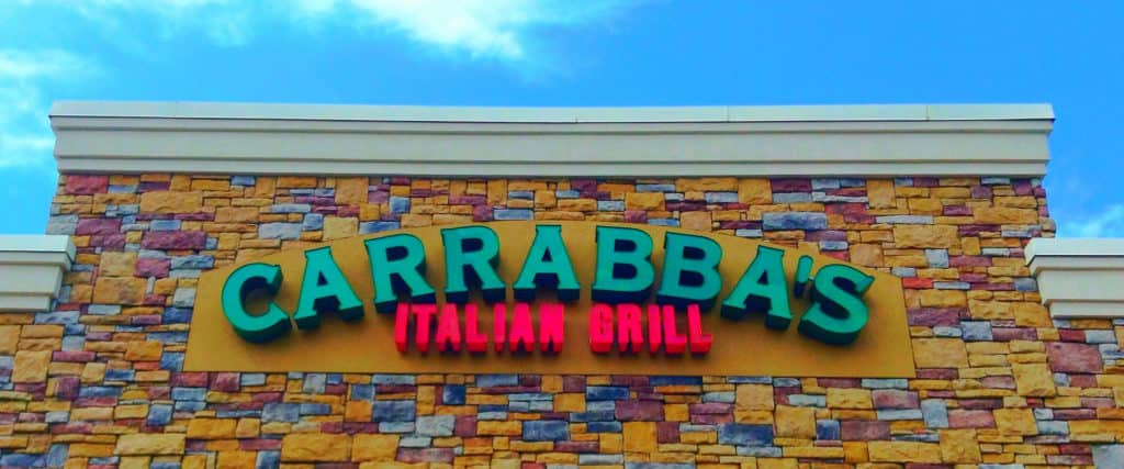 The sign of Carrabba's Italian Restaurant logo