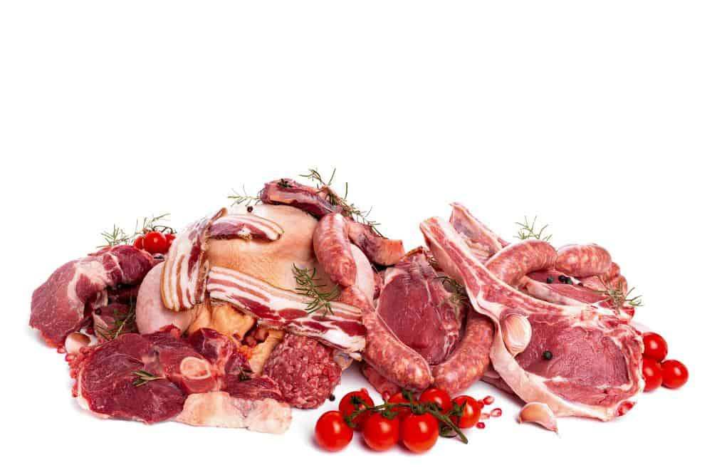 Different kinds of beef meat cuts