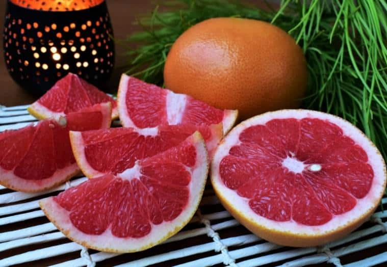 Orange flame grapefruit with dark red flesh