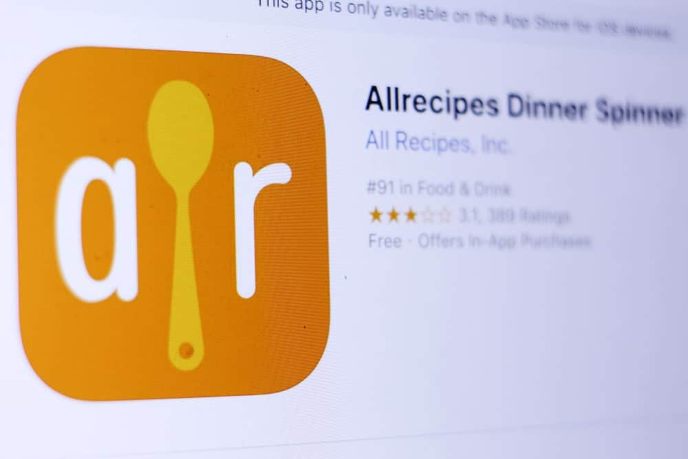 Logo of Allrecipes Dinner Spinner mobile app.