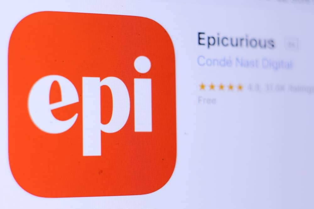 Logo of Epicurious mobile app.