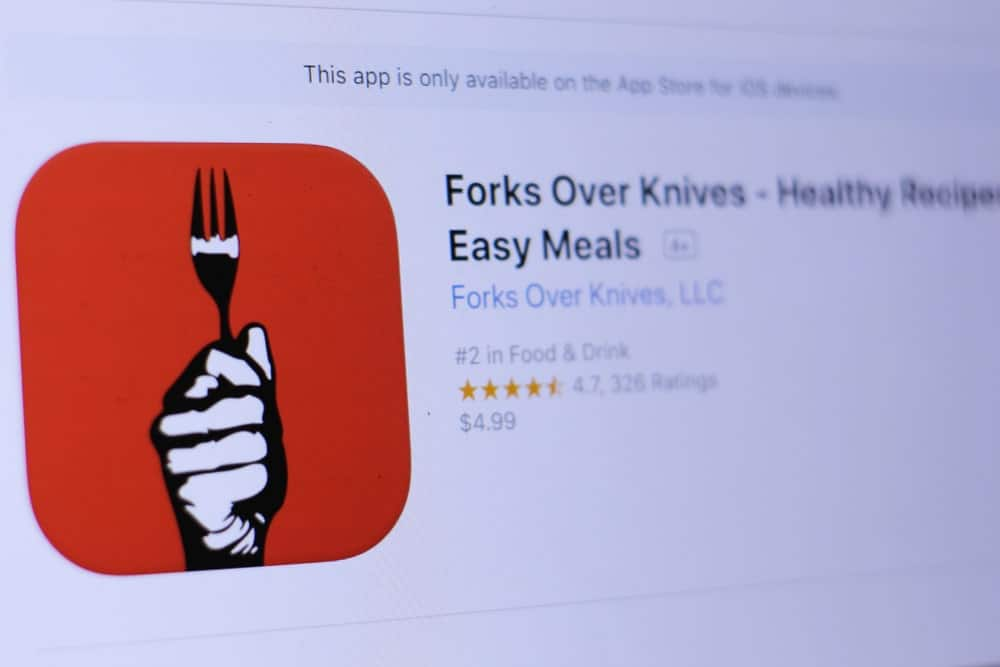 Logo of Forks Over Knives mobile app.