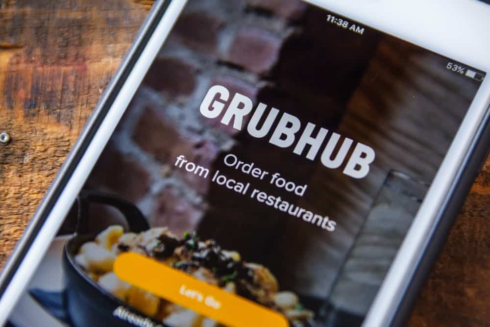 Grubhub mobile app displayed on a smartphone.