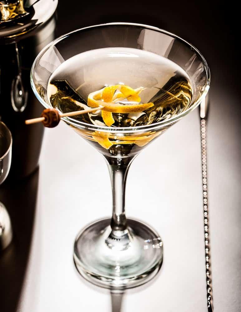 Lemon Splash Martini with a lemon twist garnish.