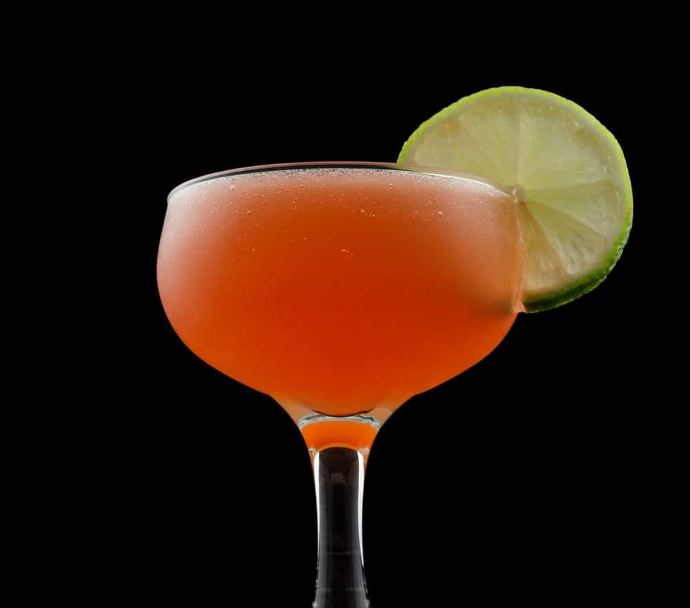 Scarlet Martini with lime.