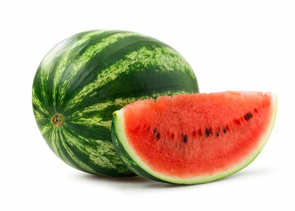 A perfectly ripe and juicy watermelon.
