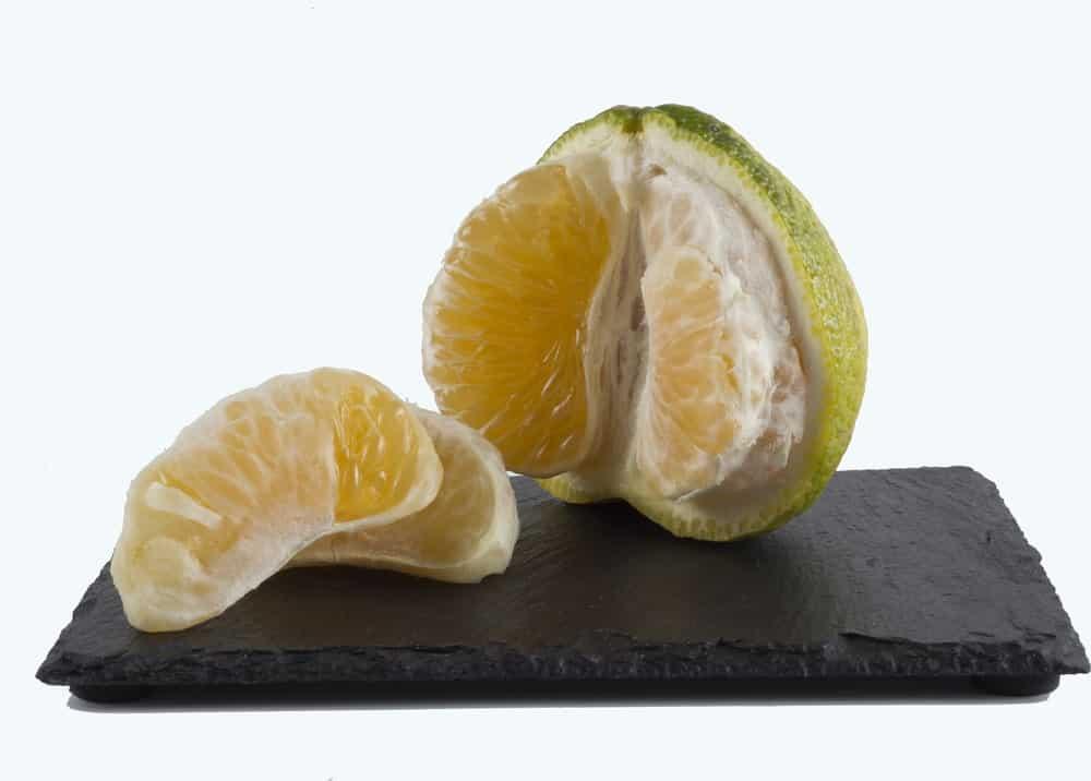 Ugli fruit cut vertically