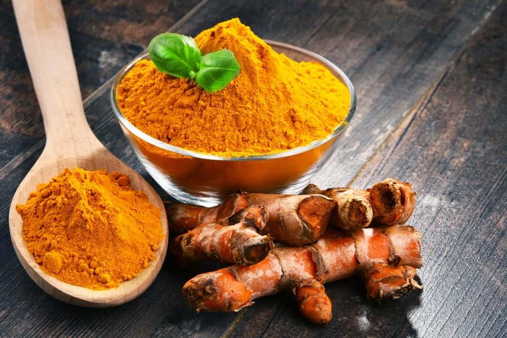 Turmeric powder and tumeric veggie