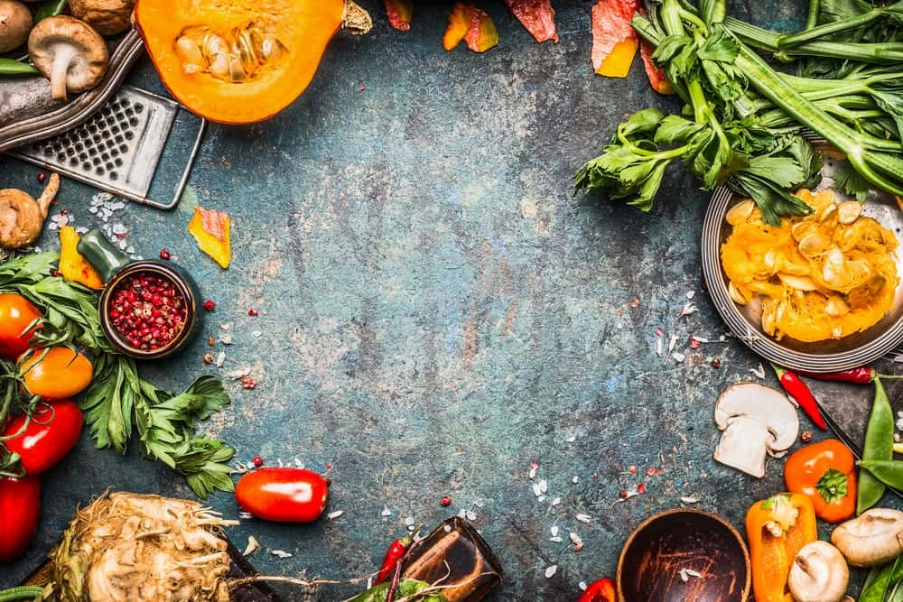 Autumn Vegetables and Cooking Preparation