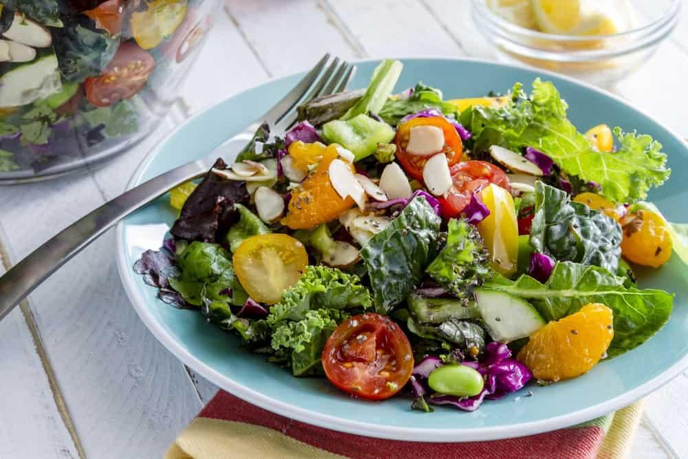 Organic Salad Sitting on a Restaurant Table