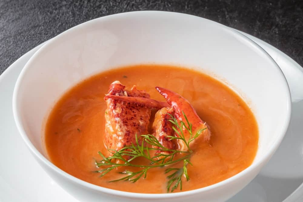 Soup with Lobsters and Herbs
