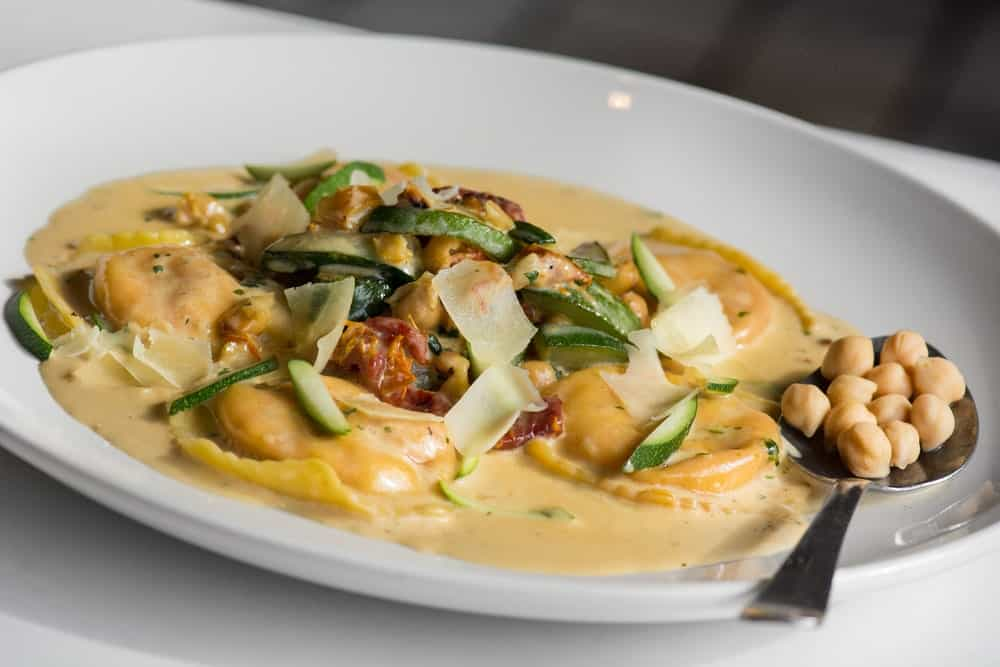 Tasty lobster ravioli