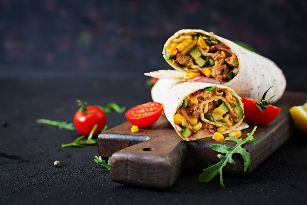 Two Burrito Wraps