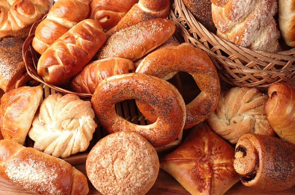 Various baked breads