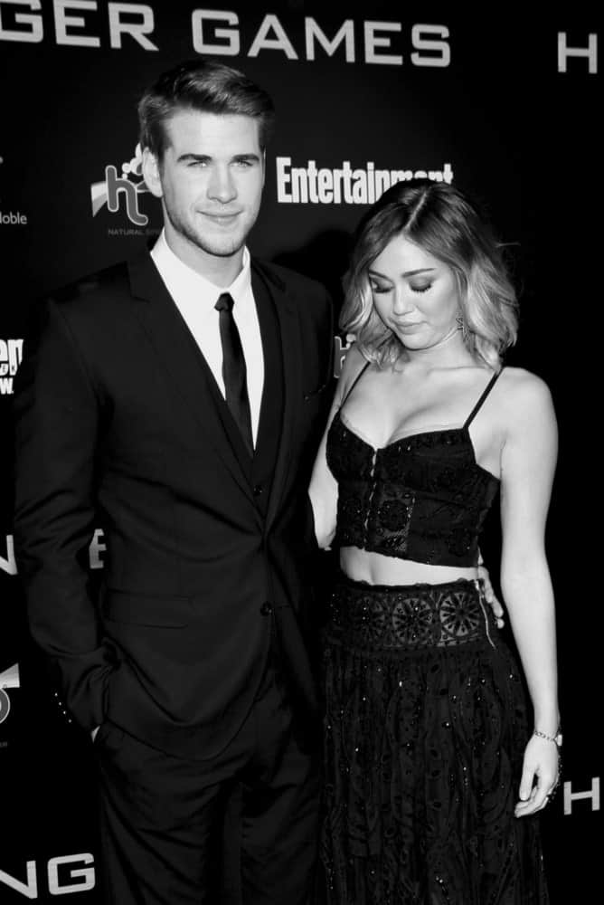 Celebrity couple Miley Cyrus and Liam Hemsworth