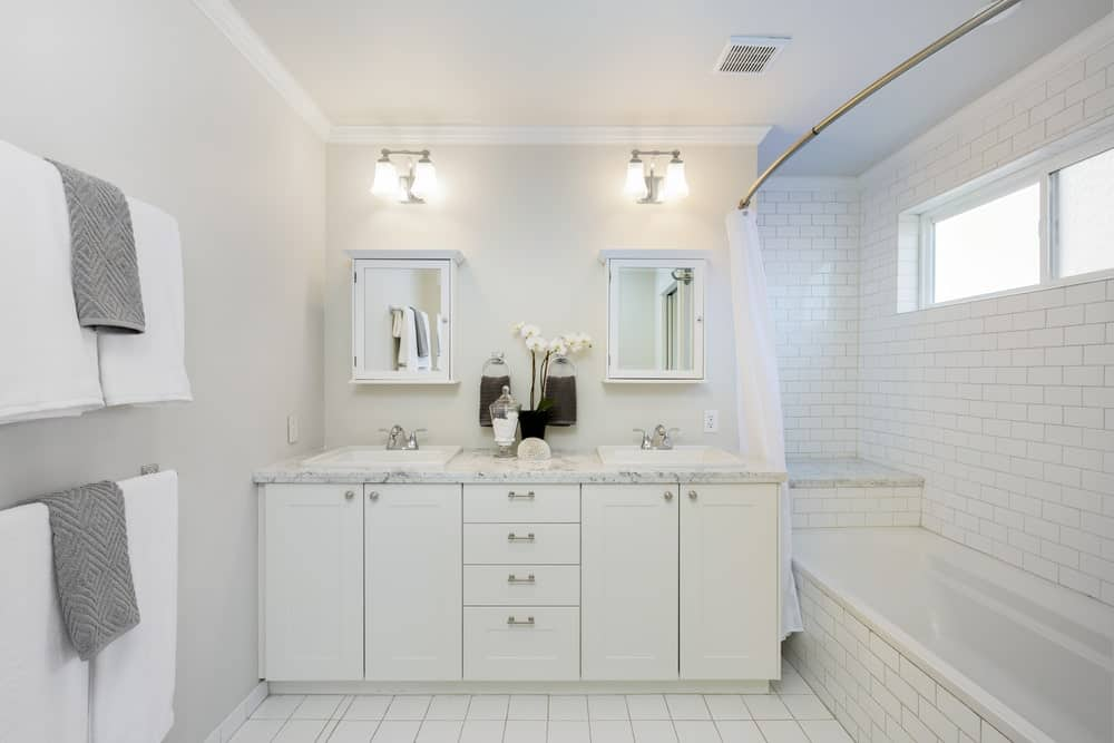 50 White Master Bathroom Designs