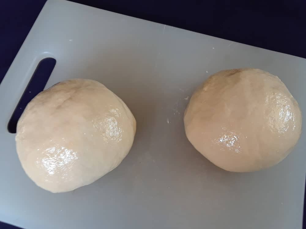 A pair of ball-shaped dough.