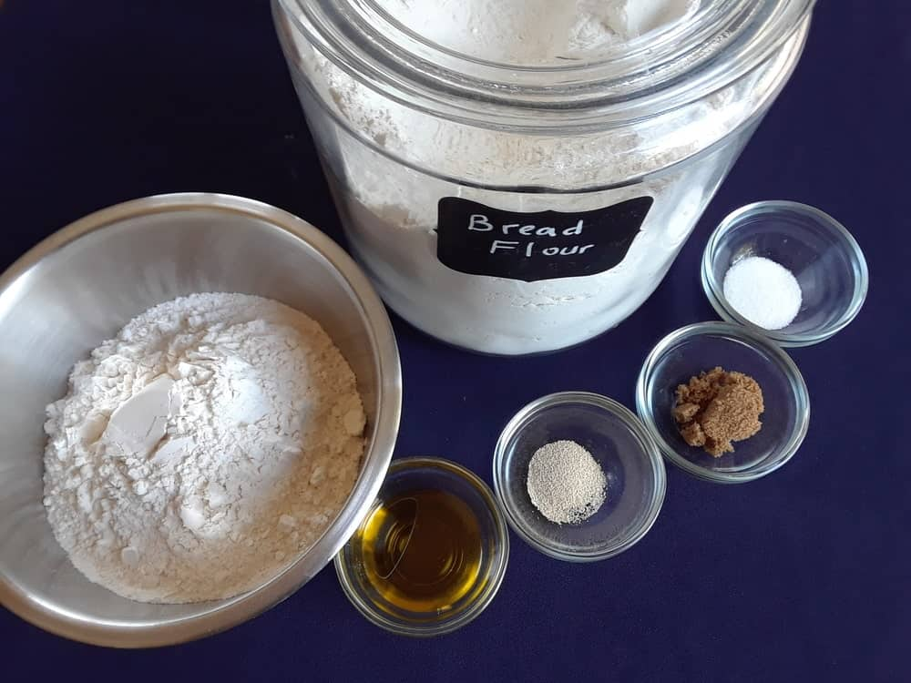 Bread flour and other ingredients.