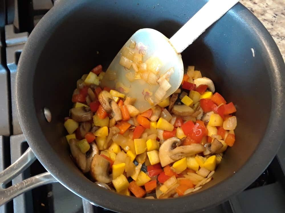 Sauteed mixed vegetables.