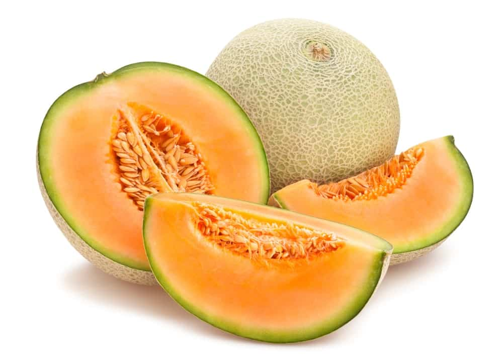 A look at a couple of fresh North American Cantaloupes.