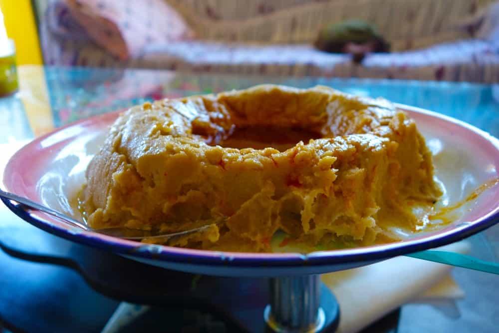 A bowl of genfo porridge.