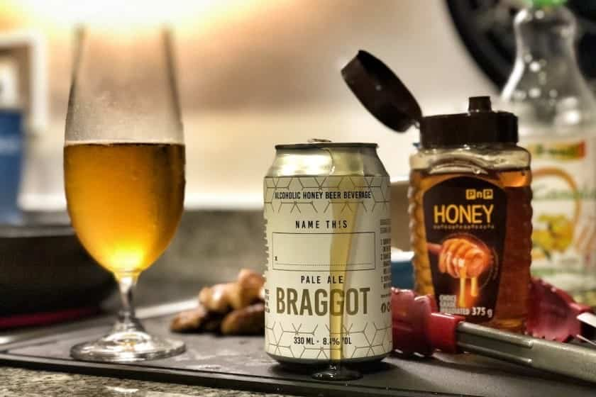 Melaure Mead Braggot Pale Ale from Barley and Hops.