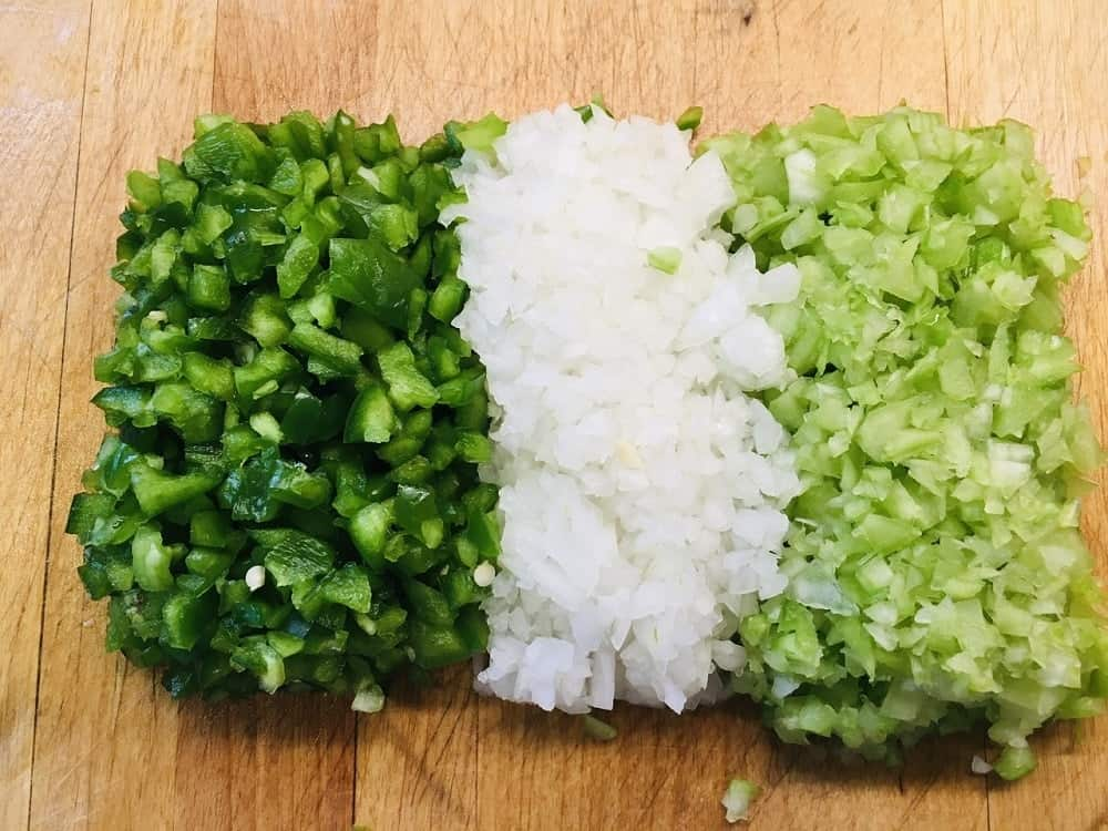 The vegetables are chopped finely.