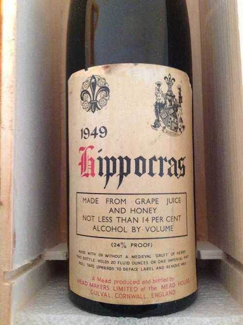 A vintage bottle of Hippocras from Storm the Castle.