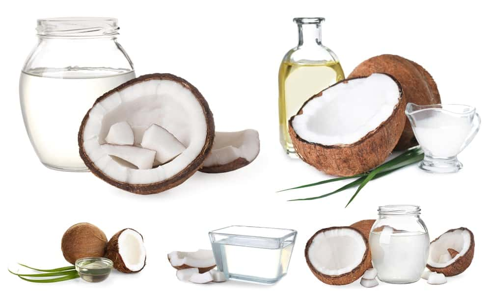 The different types of coconut oils.