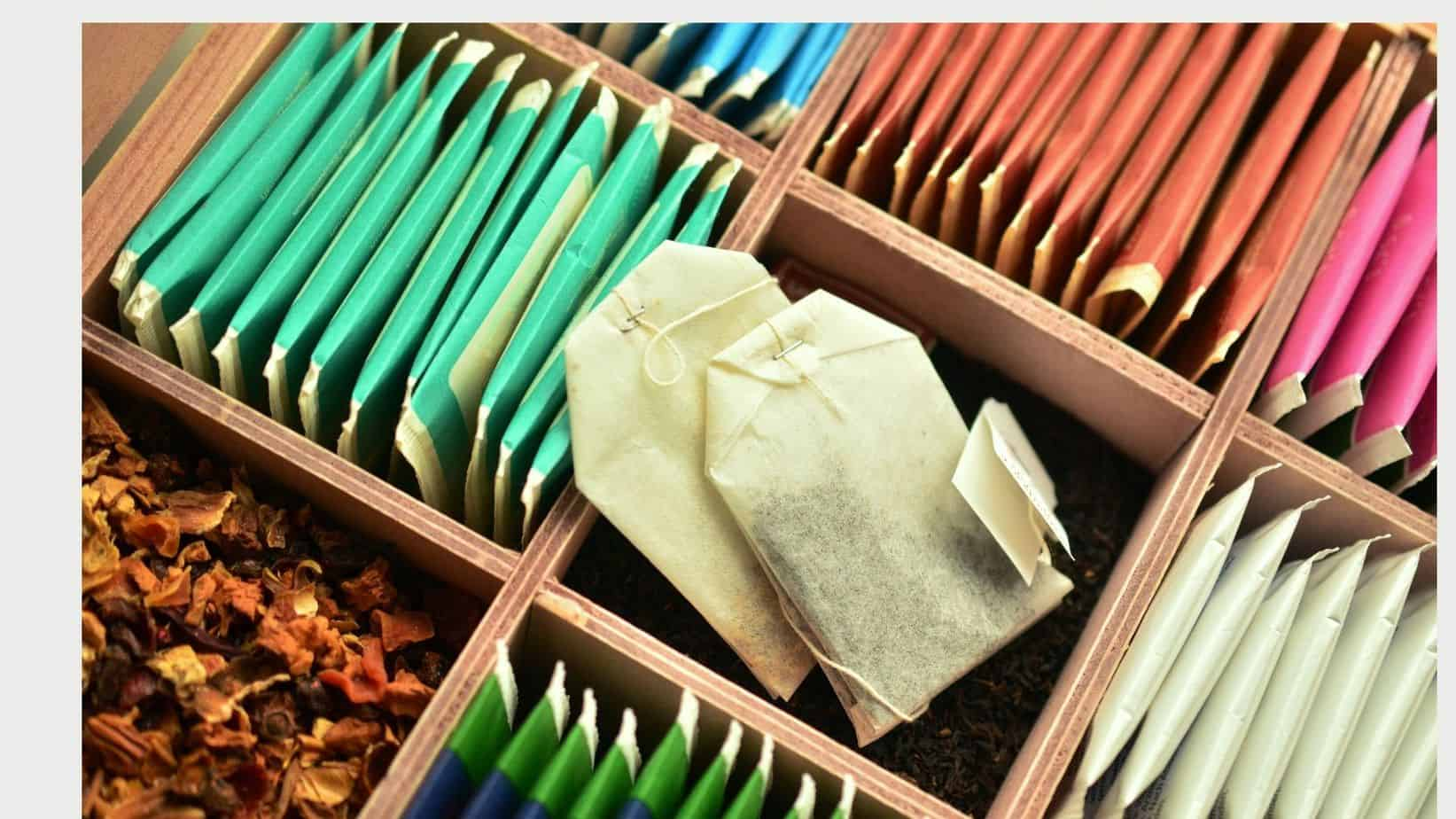 tea storage boxes